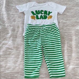 Lucky Lad 2-Piece Matching St.Patrick Day Outfit